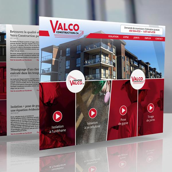 Groupe Valco - Site Web